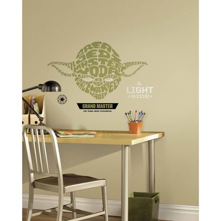 Star Wars Typographic Yoda Peel and Stick Giant Wall Decals](Star Wars Decals)