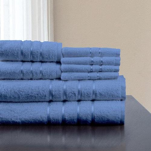 8-Piece 100% Cotton Plush Bath Towel Set by Somerset Home