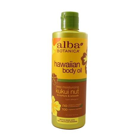 - Alba Botanica Hawaiian Body Oil Kukui Nut 8.5 Ounces 2 Pack