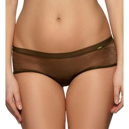 Women's Gossard 6274 Glossies Sheer Short Panty (Rich Brown M) - image 1 de 4
