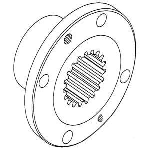 K200465 New Hydraulic Pump Drive Coupler Fits Case-IH