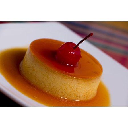 Canvas Print Sugar Dessert Flan Caramel Sweet Delicious Stretched Canvas 10 x 14