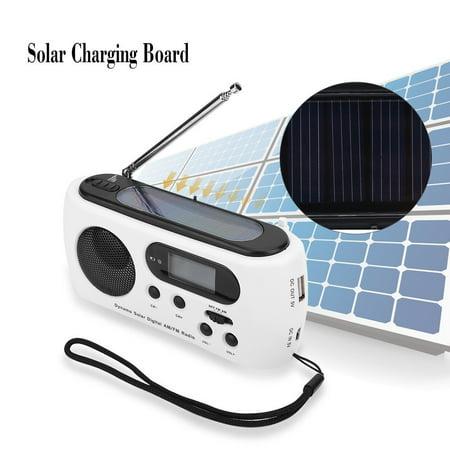 Emergency Radios,EECOO Hand Crank Self Powered AM/FM Solar Weather Radio  with LED Flashlight Portable Camping Radios iPhone/Android Smart Phone
