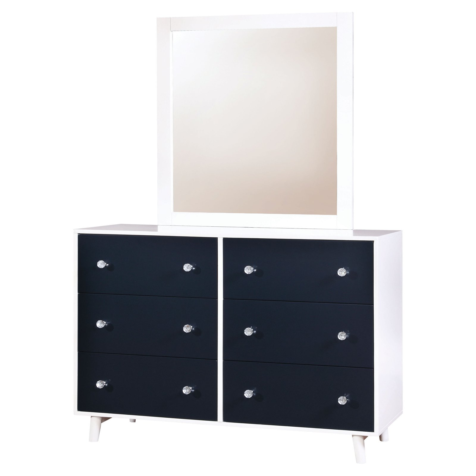 Furniture of America Iiyena Two-Tone Youth Dresser and Mirror Set by