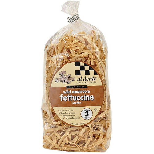 Image of Al Dente Wild Mushroom Fettuccine Pasta, 12 oz (Pack of 6)