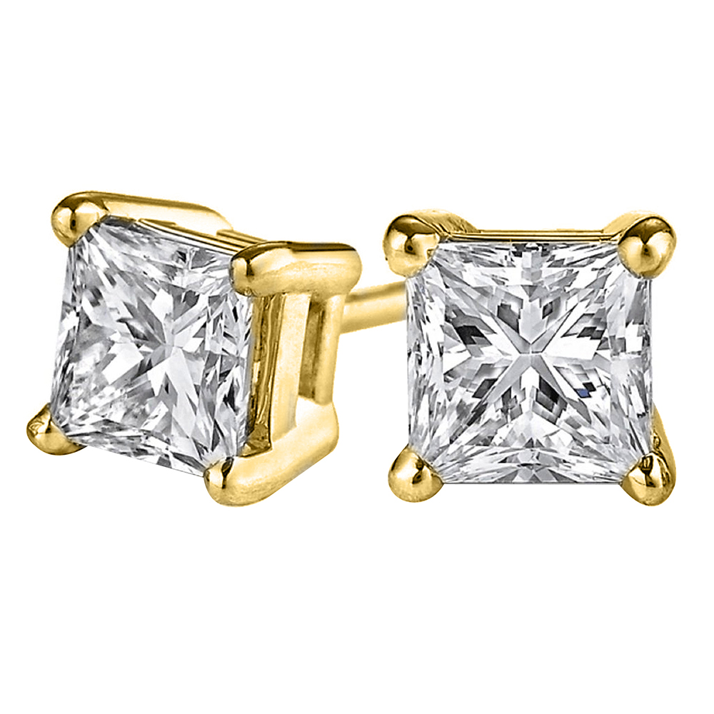 Whisper I Love You with Natural Diamond Stud Earrings - image 2 de 2