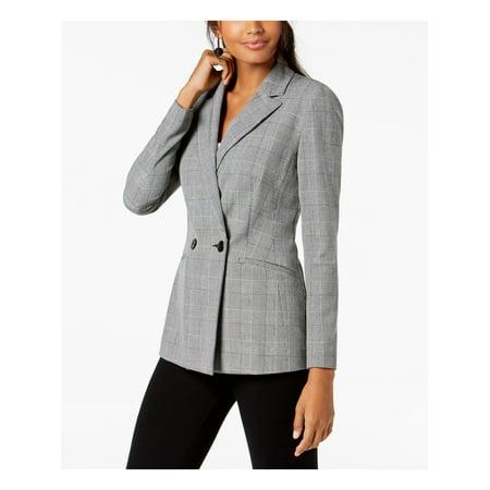 INC Womens Black Plaid Blazer Wear To Work Jacket  Size: XXL Xxl Work Jacket