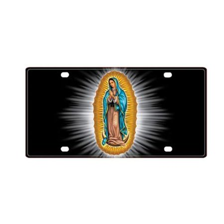 pilot automotive 3D tag license plate cover virgin mary car truck rust  resistant