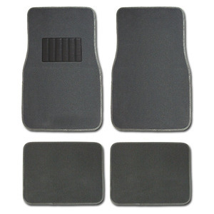 SET OF 4 CARPET UNIVERSAL SIZE CARPET FLOOR MATS WITH HEEL PAD
