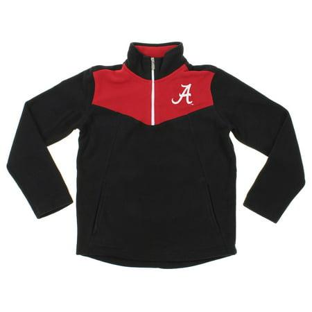 NCAA Youth Alabama Crimson Tide Break Point 1/4 Zip Pullover Sweater, Black