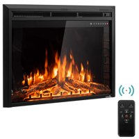 GoFlame 36'' 750W-1500W Fireplace Heater Electric Embedded Insert Timer Flame Remote