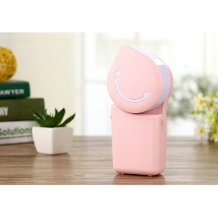 Handheld Fans & Mini-air Conditioner USB Rechargeable Fans (Pink)