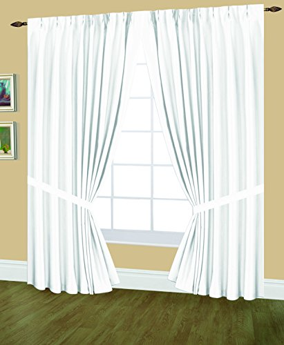 Editex Home Textiles Elaine Lined Pinch Pleated Window Curtain, 144 By  84 Inch,
