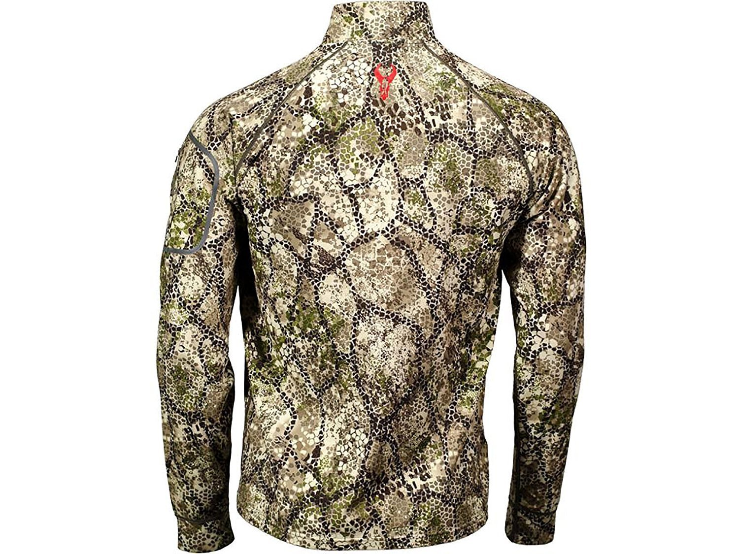 Badlands Mens Calor 1 4 Zip Base Layer Shirt Long Sleeve Polyester Approach Camo by