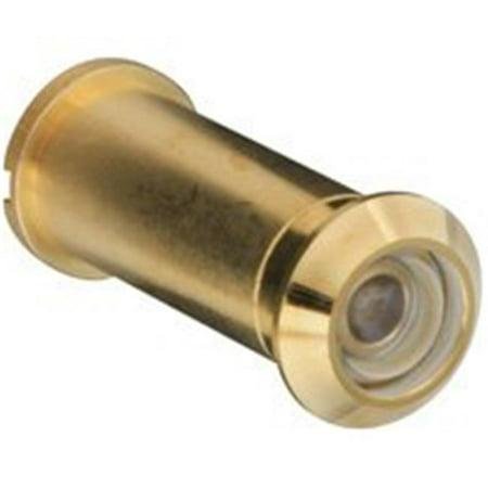 158907 160 Degree Lens Door Viewer, Polished Brass