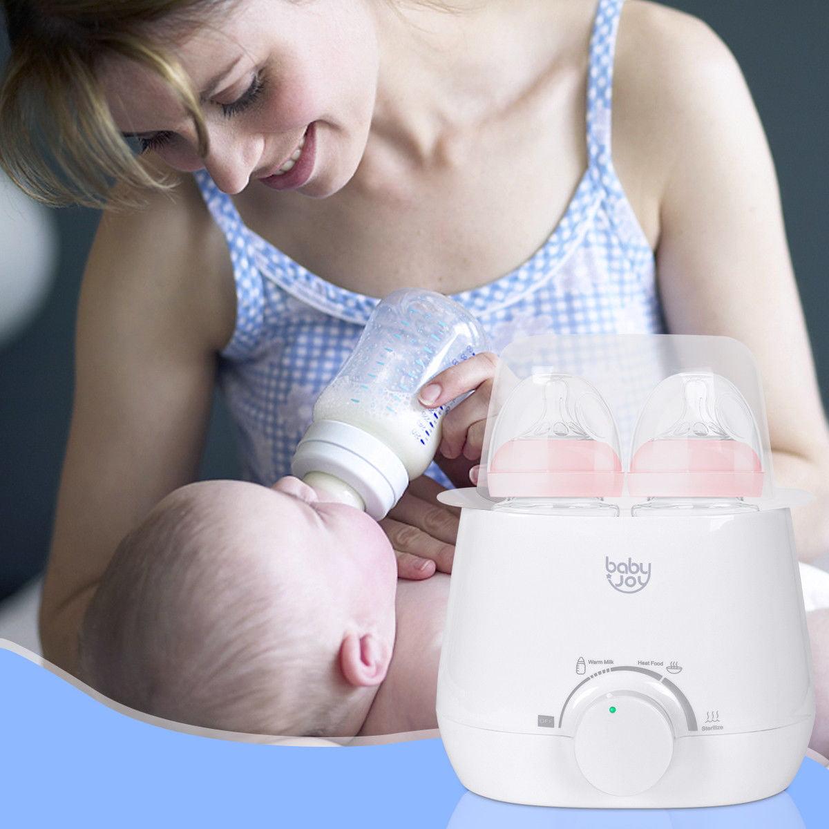 Baby-Joy Portable 3-IN-1 Baby Bottle Warmer Steam Sterilizer Food Breastmilk Heater by Costway
