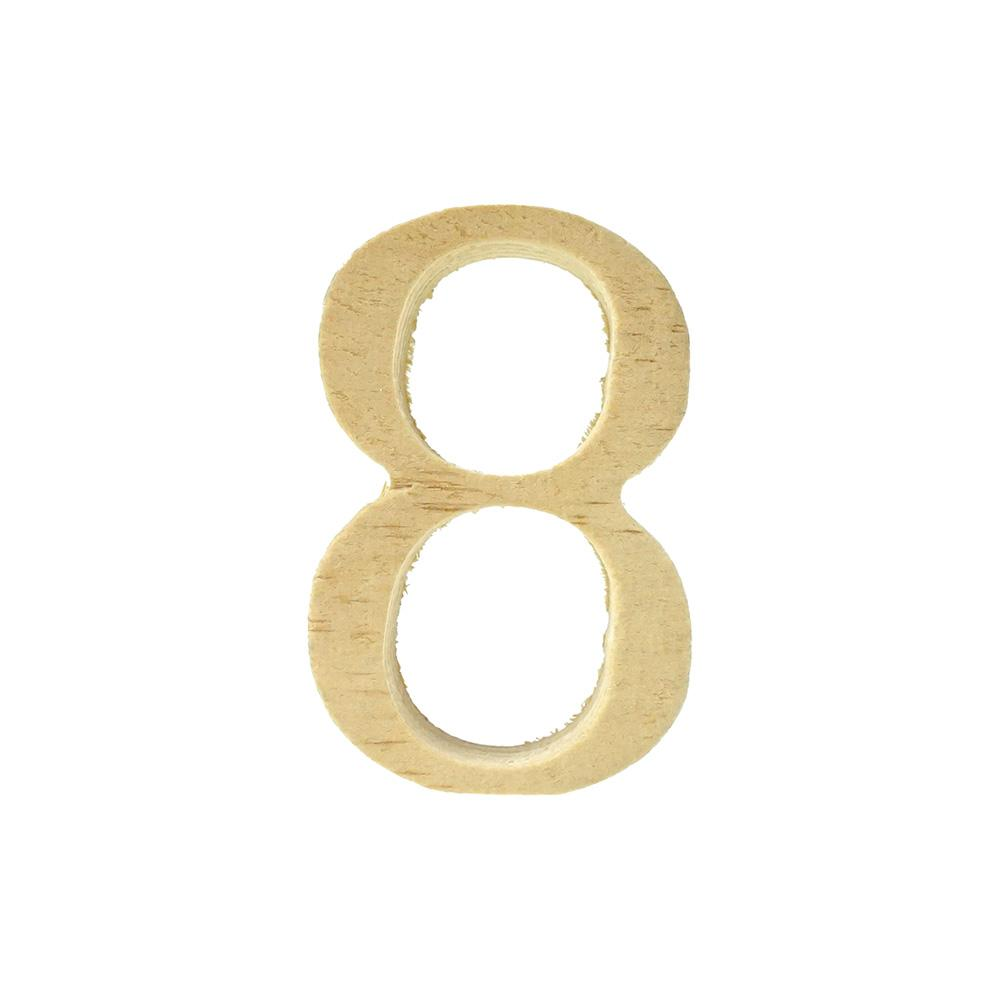 3-Count 2-Inch Pine Standing Wood Number 1