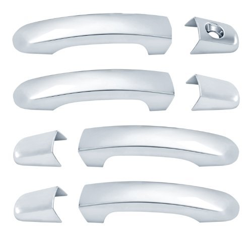 BRITE CHROME 12306K 08-12 MALIBU/09-14 TRAVERSE/04-13 EQUINOX 4DR W/O PASS KEY CHROME DOOR HANDLES