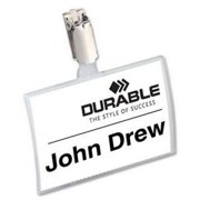Durable Click-Fold Convex Name Badge with Strap Clip 8216-19