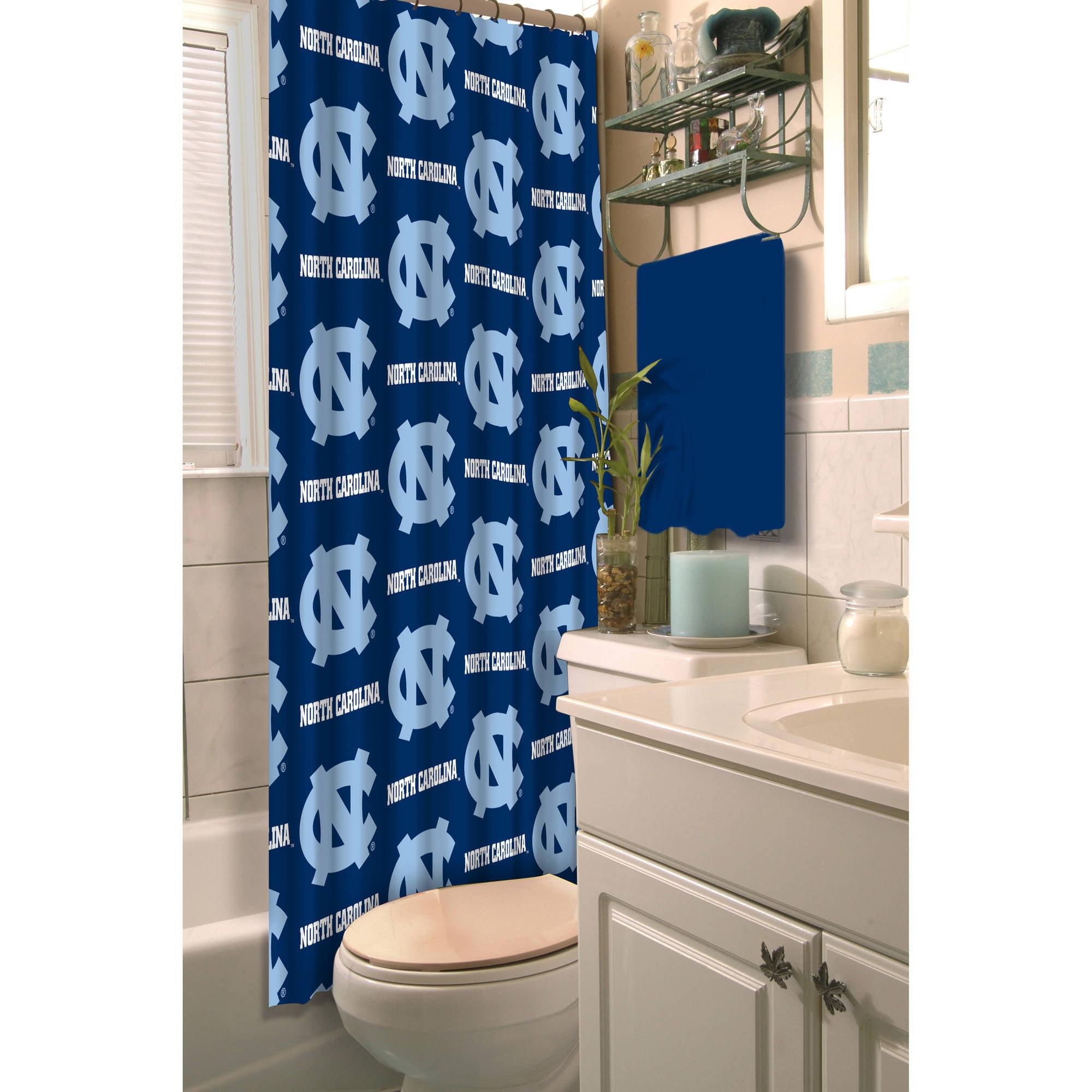 NCAA University of North Carolina Decorative Bath Collection - Shower Curtain