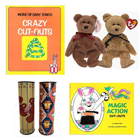 Kids Crafts Vintage Paper Crafting Books, Kaleidoscopes & Friends Childrens Gift Bundle Ages 5+ [6 Piece]