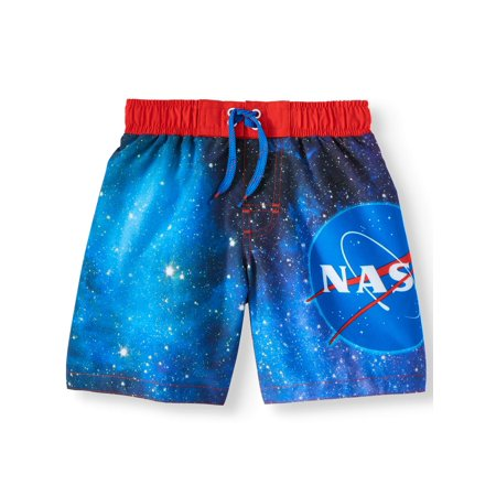 Logo Graphic Swim Trunk (Little Boys & Big Boys) (Fishing Swim Trunks)