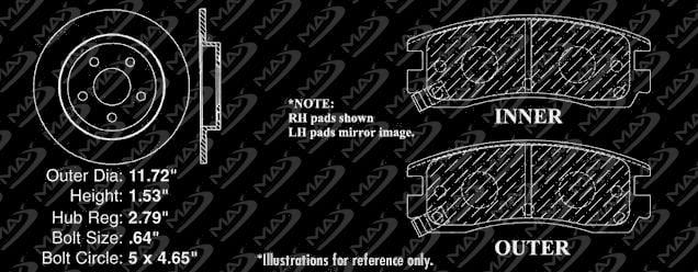 Max Brakes Front Supreme Brake Kit Premium Slotted Drilled Rotors + Ceramic Pads Fits: 2003 03 Buick Park Avenue//Park Avenue Ultra KM011831