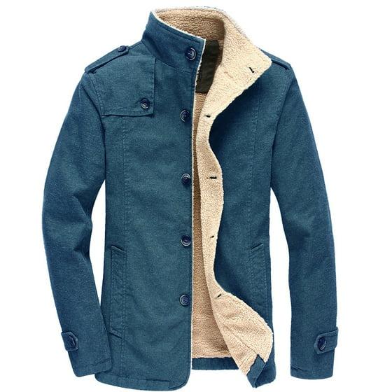 2018 Men Jacket Coats Winter Warm Fur Military Bomber
