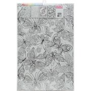 """""""Joy Of Coloring Adult Coloring Posters 11""""""""x17"""""""" 4/Pkg-Colorful Birds"""""""