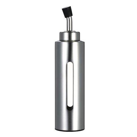 200ml/7oz Oil & Vinegar Dispenser Cruet Stainless Steel Olive Oil Sauce Pourer Dispensing Bottle Leak-proof Container for Kitchen (Ceramic Oil And Vinegar Cruet)
