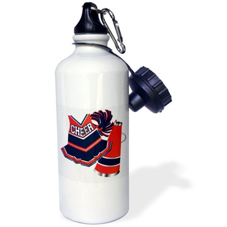 3dRose Cheerleading in Red and Blue, Sports Water Bottle, - Cheerleading Gear