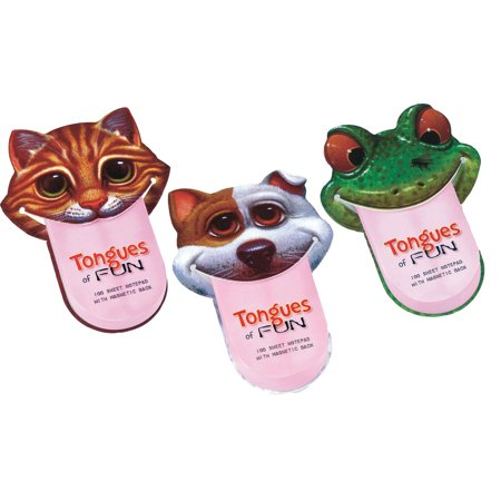 - Tongues Of Fun Notepads: Set Of 3: Cat, Dog, Frog