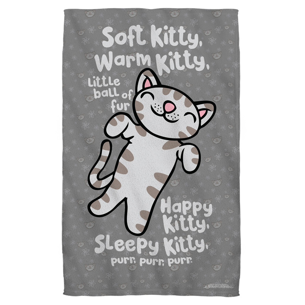 Big Bang Theory Kitty Golf Towel W Grommet White 16X24