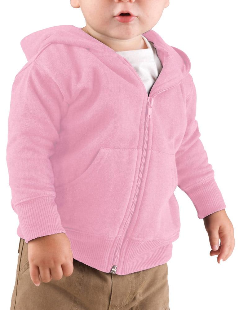 Rabbit Skins 3446 Baby Fleece Hooded Sweatshirt - White - 12 Months