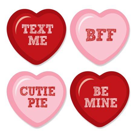 Valentine's Day Conversation Heart - DIY Shaped Party Cut-Outs - 24 - Valentine Conversation Hearts