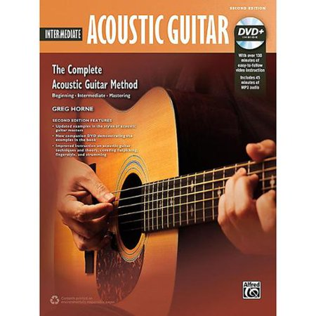 Alfred Music 00-43638 Intermediate Acoustic Guitar 2nd Edition DVD &