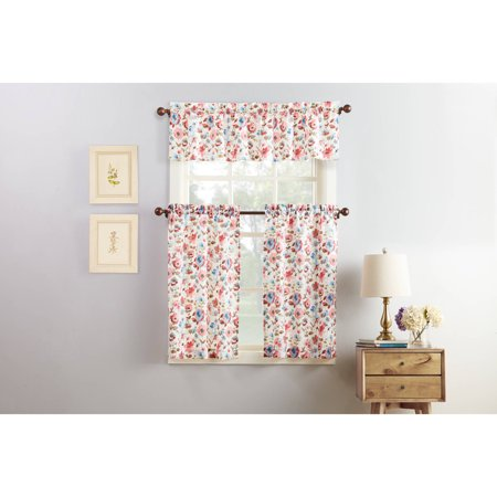 Mainstays Doris 3-Piece Kitchen Curtain and Valance ()