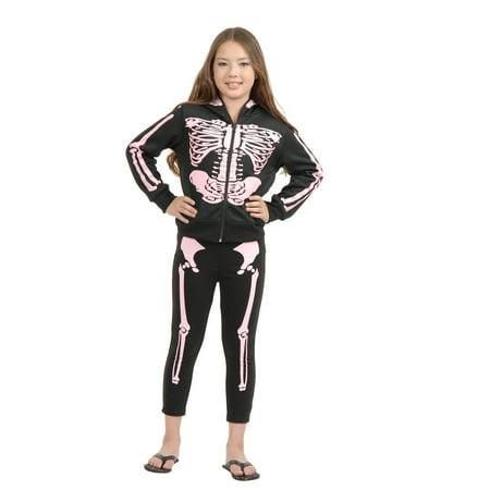 GIRLS SKELETON LEGGINGS - Size / - Skeleton Tights