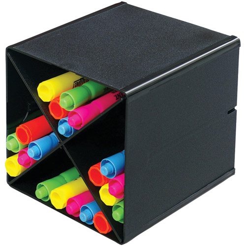 Deflecto 350204 Cube with X Dividers, Black