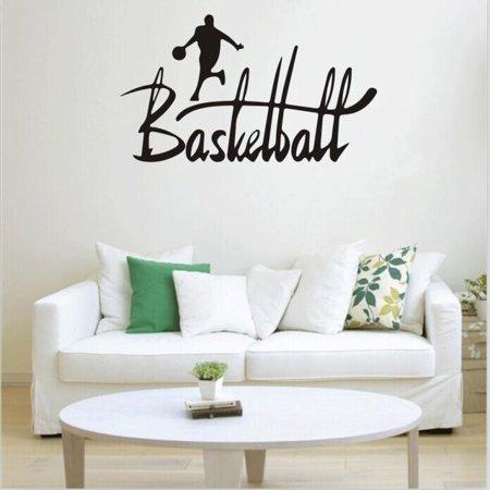 Basketball Room Decor (Basketball Sport Removable Wall Sticker Room Mural Decal Home Decor Vinyl Art)