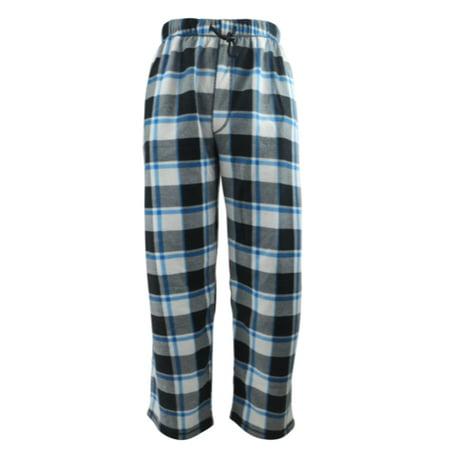Men's Plaid Light Grey Fleece Pants