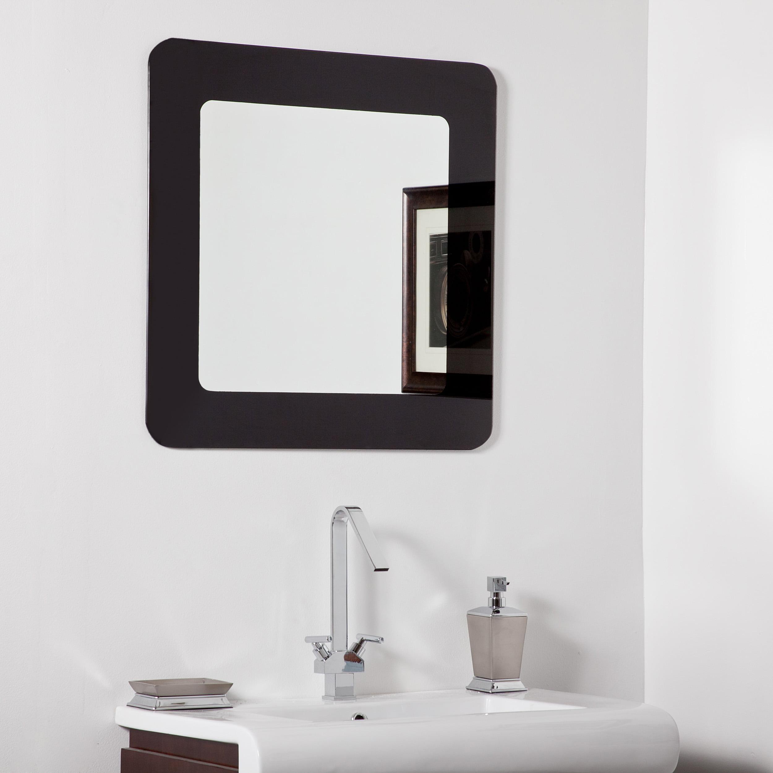 Décor Wonderland Ella Modern bathroom mirror 27.6 inx27.6 in