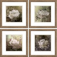 "Ornamental Flowers Set 14"" x 14"" Wall Art"