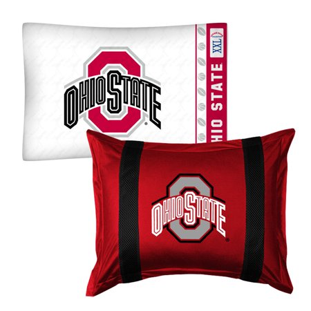 2pc Ncaa Ohio State Buckeyes Pillowcase And Pillow Sham Set College Team Logo Bedding Accessories