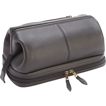 8f69e77972 Royce Leather Executive Toiletry Travel Wash Bag with Zippered Bottom  Compartment - Walmart.com