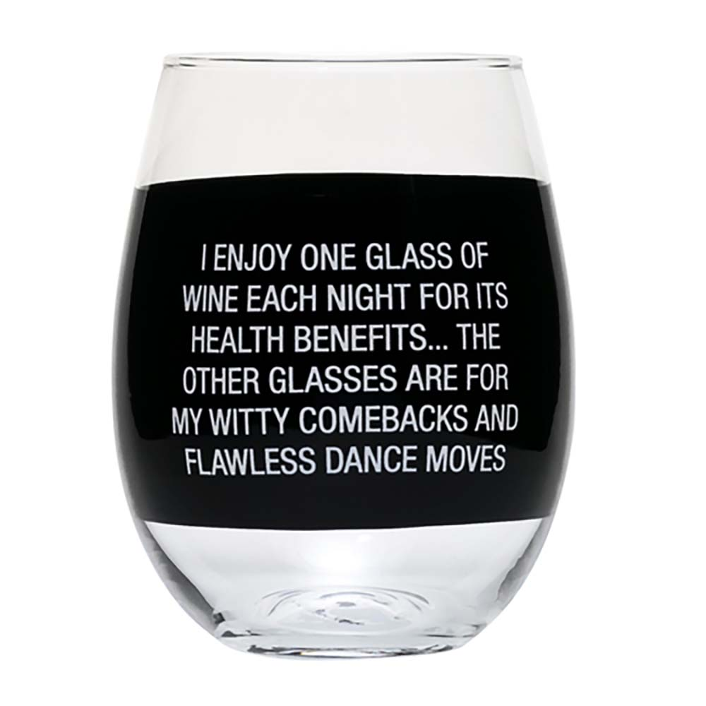 About Face Designs Wine Glass- Dance Moves by About Face Designs
