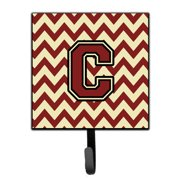 Letter C Chevron Maroon and Gold Leash or Key Holder CJ1061-CSH4