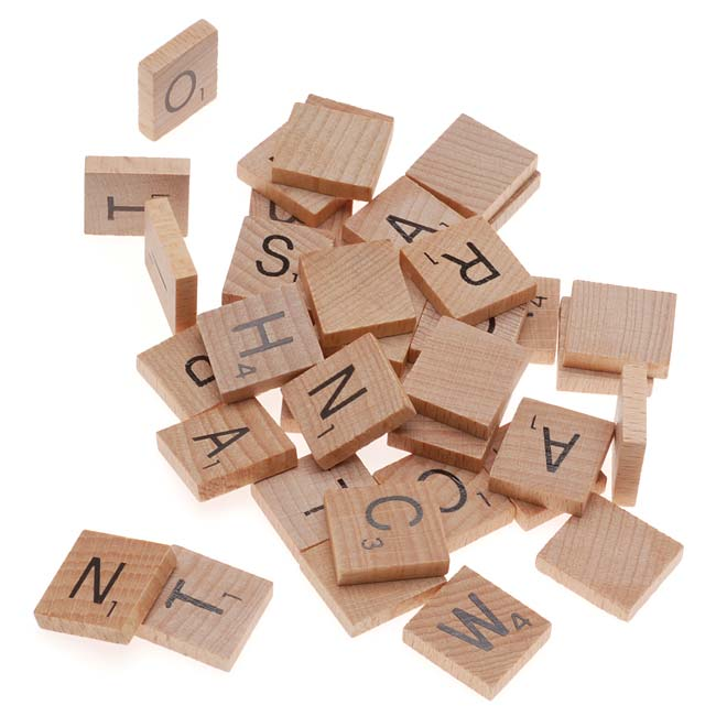 Wood Scrabble Pendant Tiles Rectangle 18x20mm  1000 by
