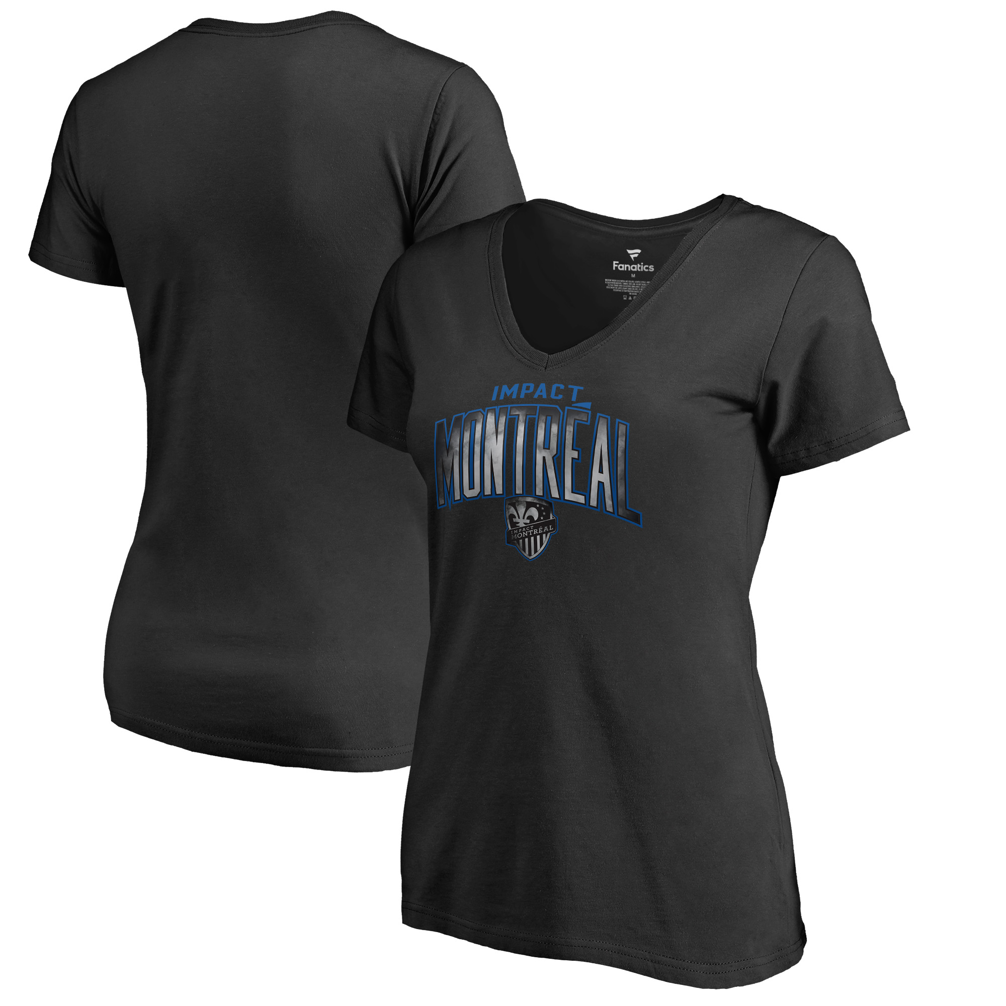 Montreal Impact Fanatics Branded Women's Arch Smoke V-Neck T-Shirt - Black