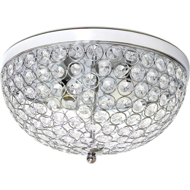 Crystal Flush Mount Ceiling Fixture